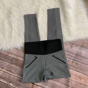 Zara Basic Gray Leggings w. Zippers